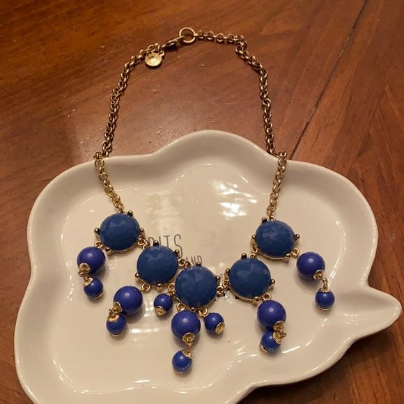 Drippy Blue stone J Crew Necklace